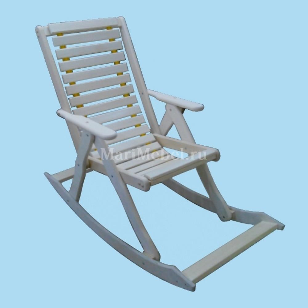 кресло качалка с мягким сиденьем для отдыха в сауне