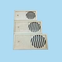 Вентиляционная решётка с задвижкой «Волна»