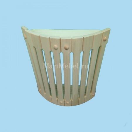 Абажур деревянный угловой полукруглый