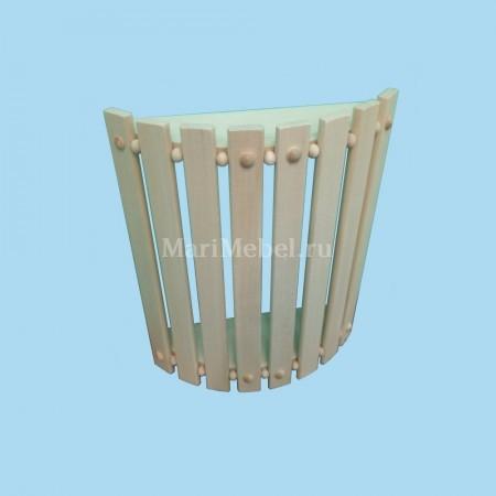 Абажур деревянный полукруглый с шариками