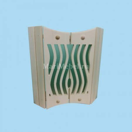 Деревянный абажур «Волна»