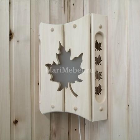 Абажур деревянный «Клён»
