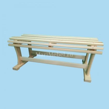 Лавка деревянная «Фигурная»