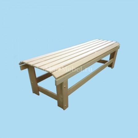 Лавка «Овальная» деревянная не раскладная