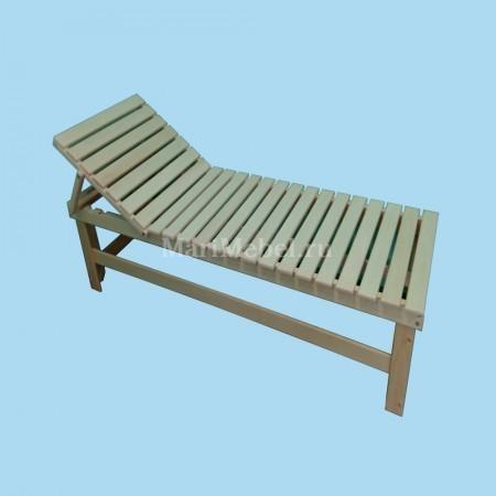 Лежак деревянный с регулируемой спинкой