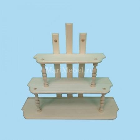 Деревянная полка «Пирамида»