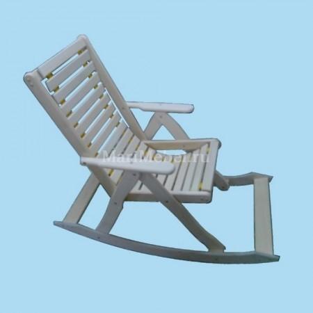 Деревянное кресло качалка мягкое