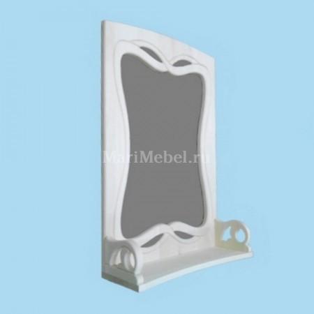 Зеркало резное «Маска» с полкой